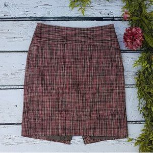 The Limited • Pink Tweed Pencil Skirt